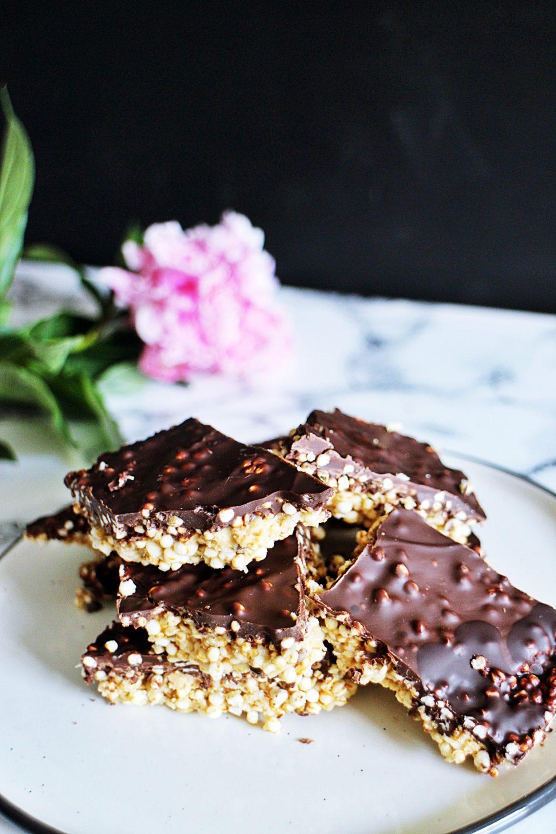Quinoa Schokoladen Riegel Ein Gesunder Snack Wanderwulf